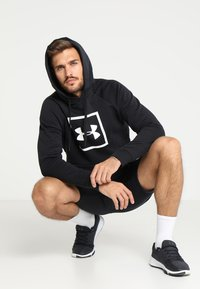 Under Armour - RIVAL LOGO HOODY - Hoodie - black/white - 1