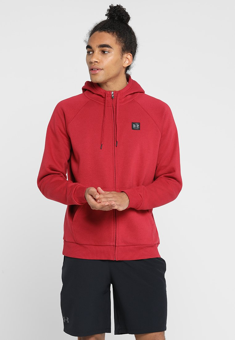 Under Armour - RIVAL HOODY - Sweatjacke - red