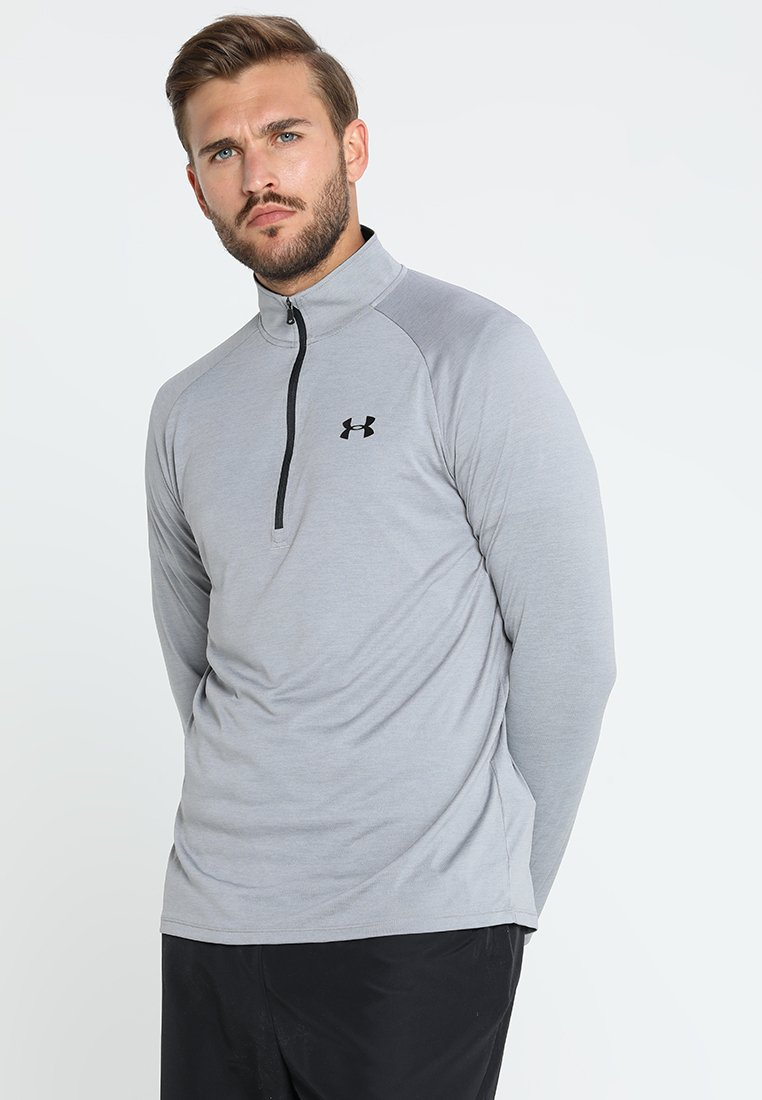 Under Armour - TECH 1/2 ZIP - Funktionsshirt - steel/black