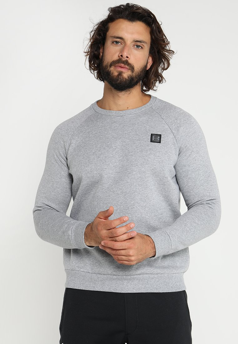 Under Armour - RIVAL CREW - Sweater - steel light heather/black