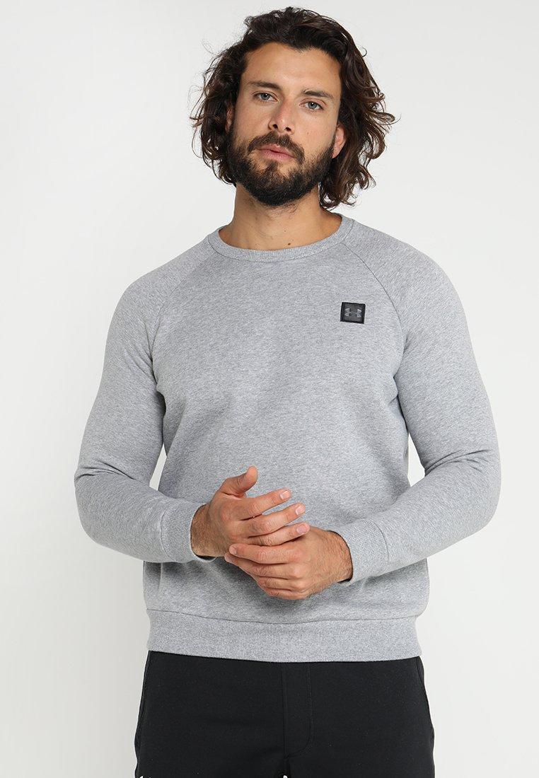 Under Armour - RIVAL CREW - Sweatshirt - steel light heather/black
