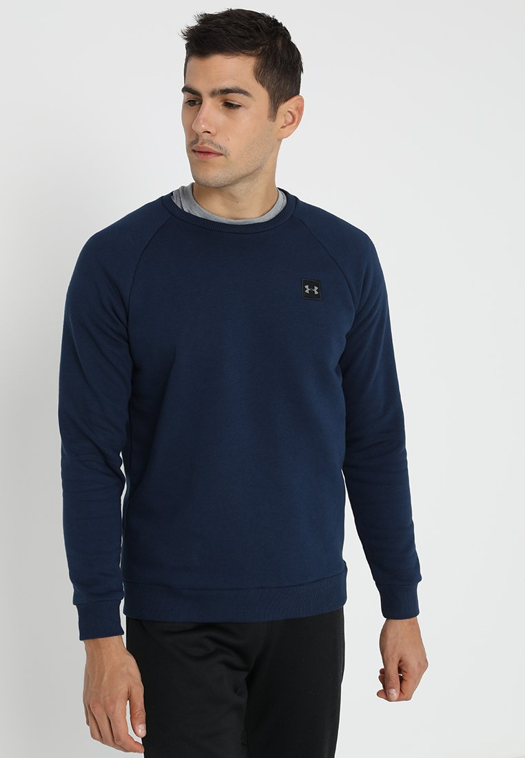 Under Armour - RIVAL CREW - Sweatshirt - academy/black