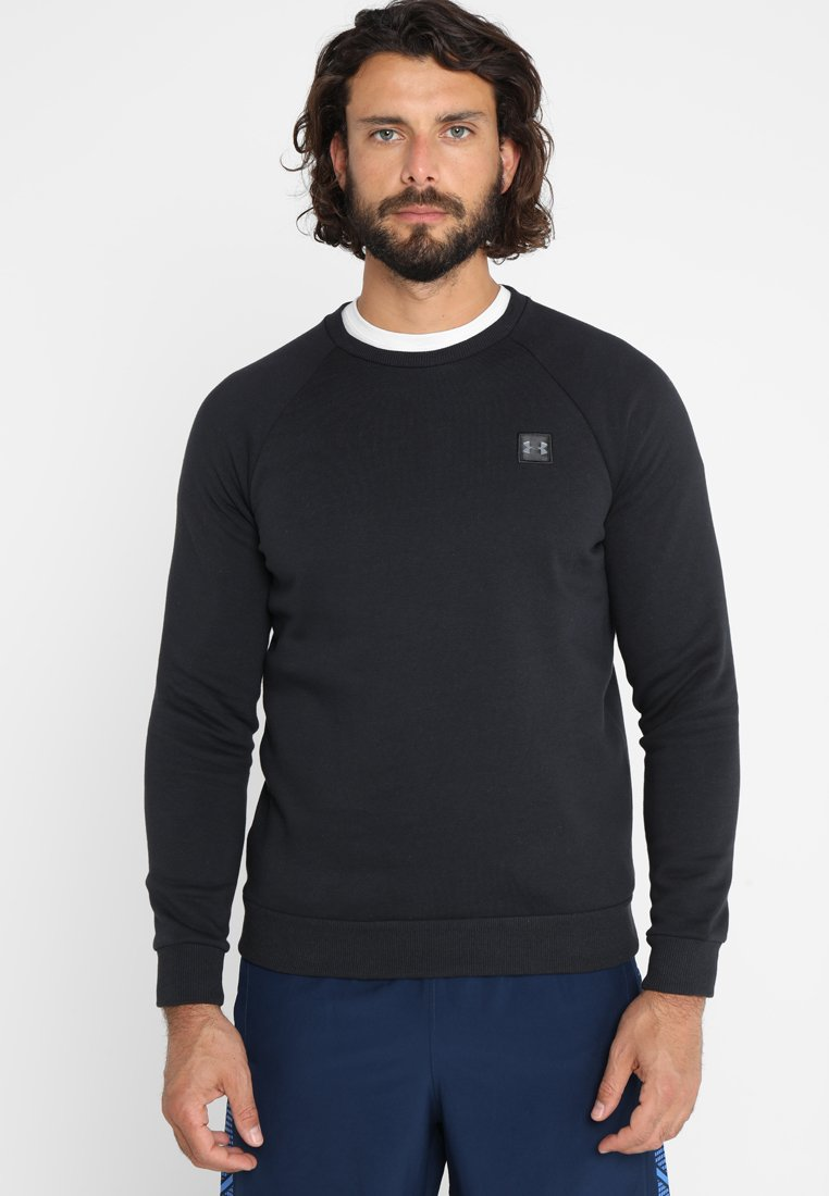 Under Armour - RIVAL CREW - Sweatshirt - black/black