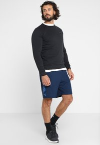 Under Armour - RIVAL CREW - Sweatshirt - black/black - 1