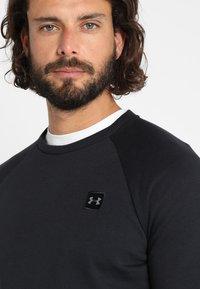 Under Armour - RIVAL CREW - Sweatshirt - black/black - 3