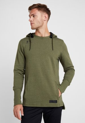 ACCELERATE OFF PITCH HOODIE - Mikina s kapucí - guardian green/black/metallic black