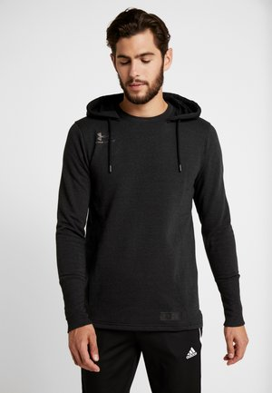 ACCELERATE OFF PITCH HOODIE - Hoodie - black/metallic black