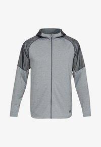 Under Armour - MK1 TERRY FZ HOODIE - Zip-up hoodie - grey - 0