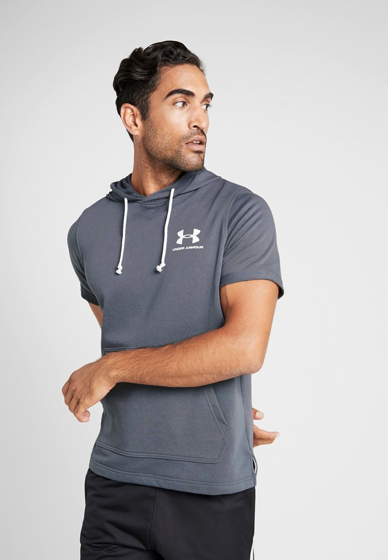 Under Armour - SPORTSTYLE HOODY - Jersey con capucha - pitch gray/onyx white