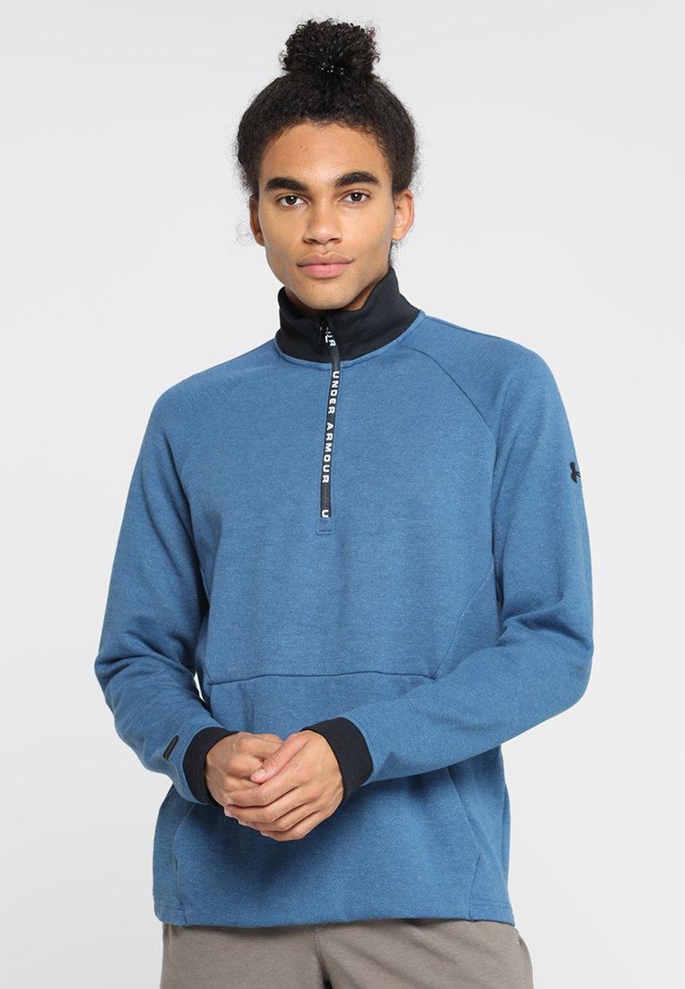 Under Armour - UNSTOPPABLE KNIT  - Sweatshirt - petrol blue/black