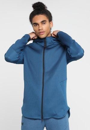 UNSTOPPABLE MOVE HOODIE - Zip-up hoodie - petrol blue/thunder/black