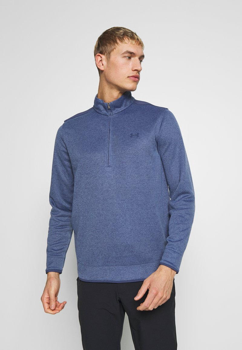 Under Armour - SWEATERFLEECE 1/2 ZIP - Sweatshirt - blue ink/academy
