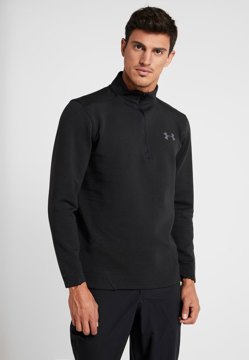 Under Armour - STORM ZIP - Sweatshirt - black/pitch gray