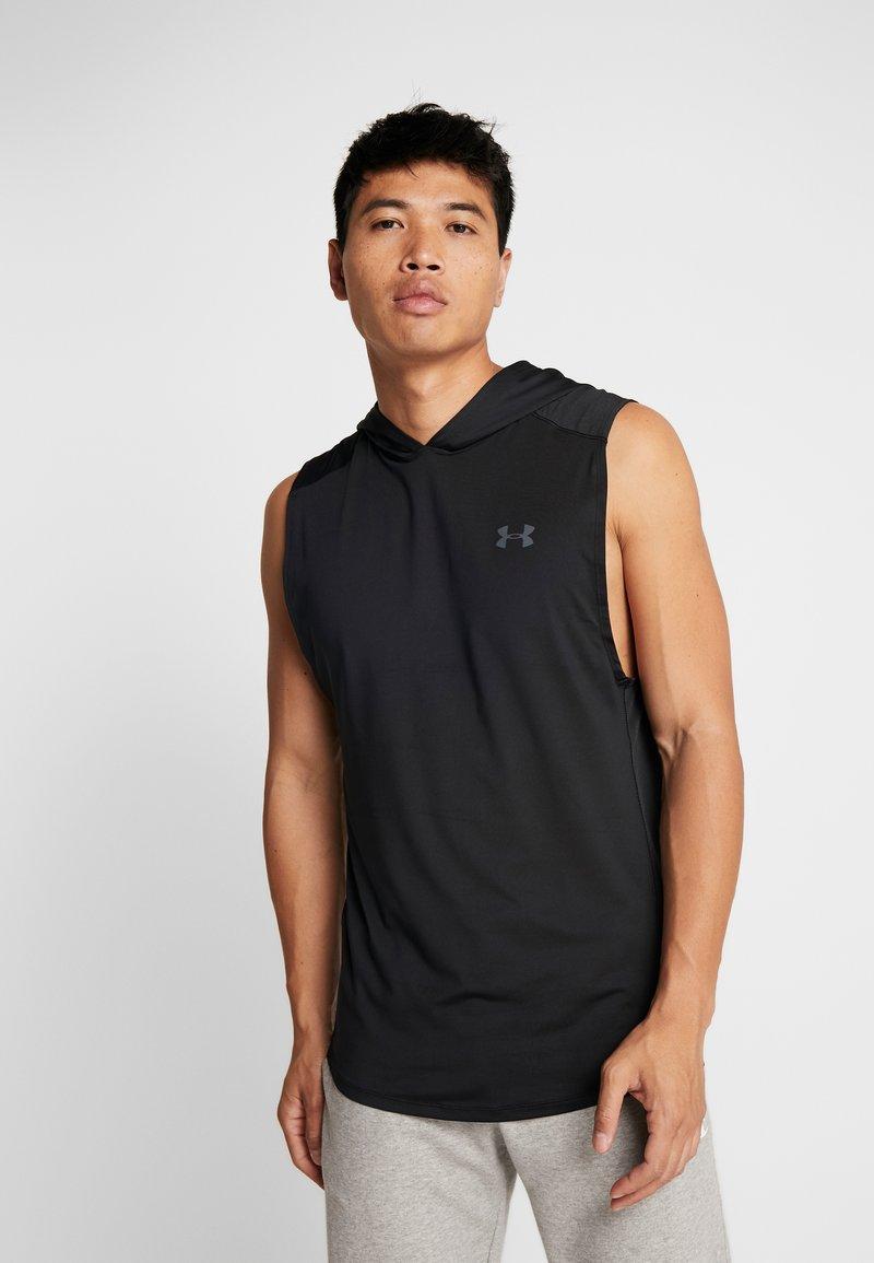 Under Armour - HOODIE - Camiseta de deporte - black/pitch gray