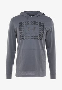 Under Armour - SPORTSTYLE HOODIE - Funkční triko - pitch gray/black - 4