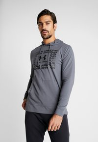 Under Armour - SPORTSTYLE HOODIE - Funkční triko - pitch gray/black - 0