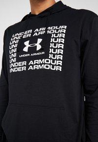 Under Armour - SPORTSTYLE HOODIE - Funktionströja - black/white - 4