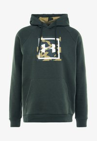Under Armour - RIVAL PRINTED HOODIE - Hættetrøjer - baroque green - 4