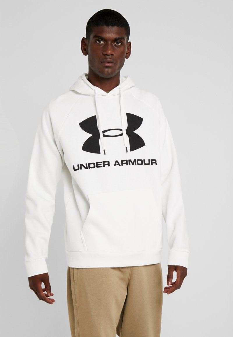 Under Armour - RIVAL SPORTSTYLE LOGO HOODIE - Hættetrøjer - onyx white/black