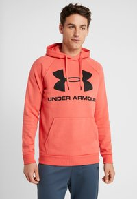 Under Armour - RIVAL SPORTSTYLE LOGO HOODIE - Hættetrøjer - martian red/black - 0