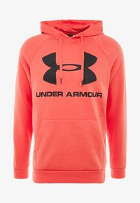 Under Armour - RIVAL SPORTSTYLE LOGO HOODIE - Hættetrøjer - martian red/black - 3
