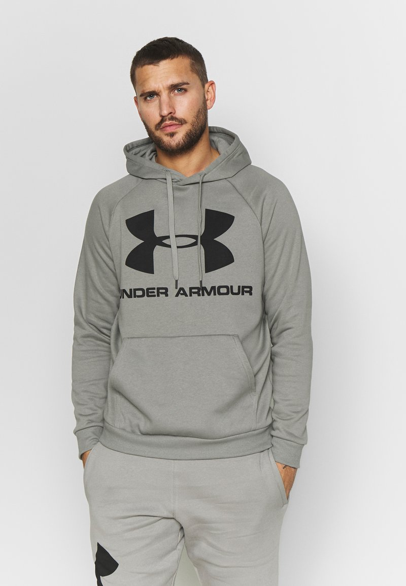 Under Armour - RIVAL SPORTSTYLE LOGO HOODIE - Kapuzenpullover - gravity green/black