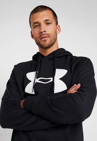 Under Armour - RIVAL SPORTSTYLE LOGO HOODIE - Hoodie - black/white - 3