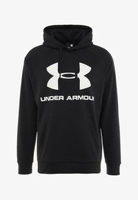 Under Armour - RIVAL SPORTSTYLE LOGO HOODIE - Hoodie - black/white - 4