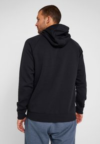 Under Armour - RIVAL SPORTSTYLE LOGO HOODIE - Hoodie - black/white - 2