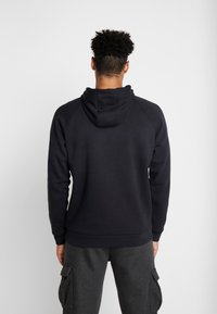 Under Armour - RIVAL SPORTSTYLE LOGO HOODIE - Huppari - black/outpost green - 2