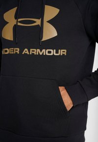 Under Armour - RIVAL SPORTSTYLE LOGO HOODIE - Huppari - black/outpost green - 3
