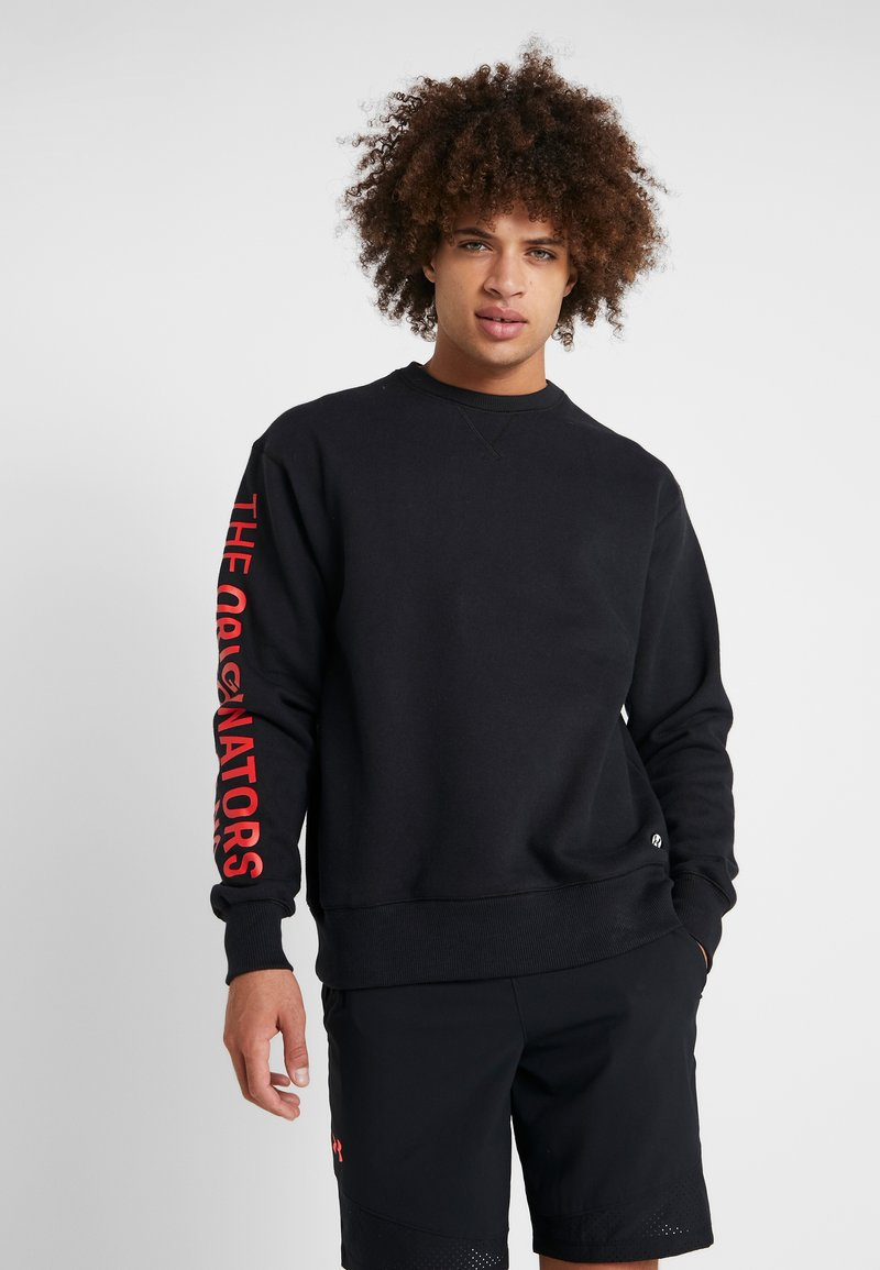 Under Armour - PERFORMANCE ORIGINATORS CREW - Sweatshirt - black/martian red