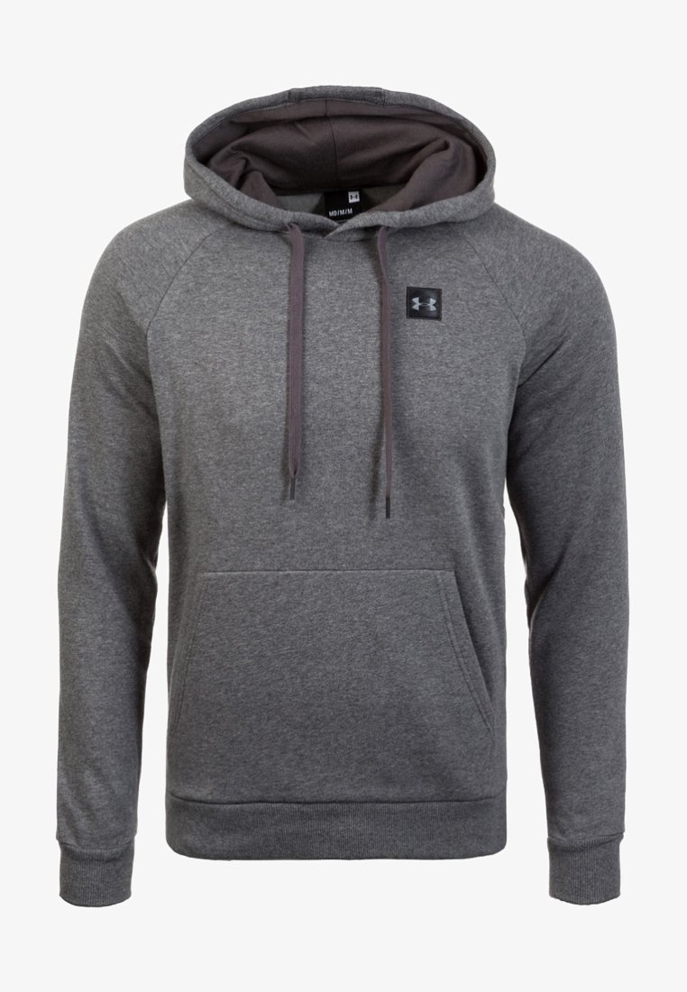 Under Armour - RIVAL - Mikina skapucí - charcoal light heather
