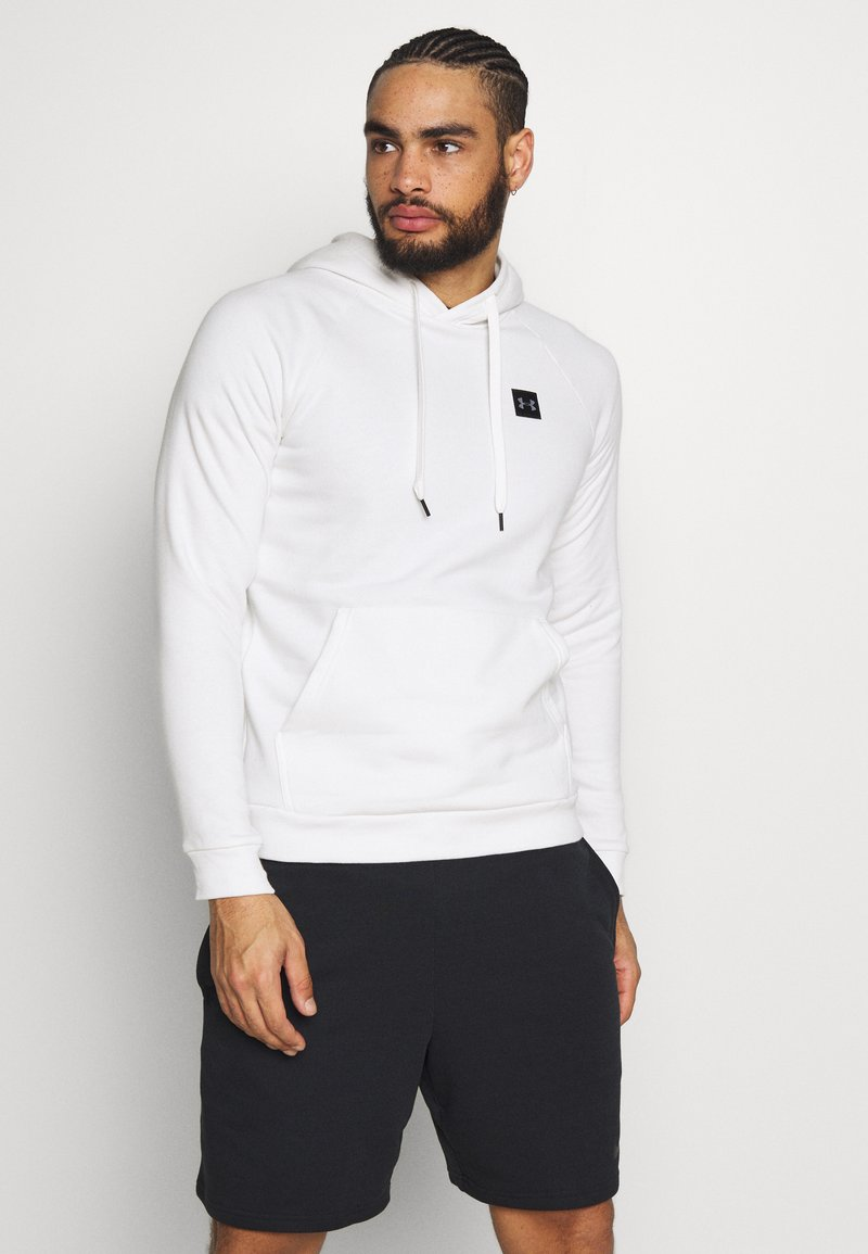 Under Armour - RIVAL - Hoodie - onyx white/black