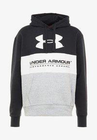 Under Armour - PERFORMANCE ORIGINATORS LOGO HOODY - Hoodie - black/white - 4