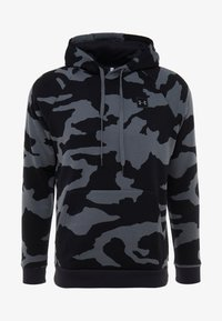 Under Armour - RIVAL CAMO HOODY - Hoodie - pitch gray/black - 3