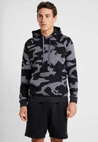 Under Armour - RIVAL CAMO HOODY - Hoodie - pitch gray/black - 0