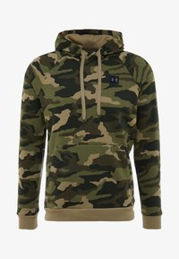 Under Armour - RIVAL CAMO HOODY - Hættetrøjer - outpost green/black - 3