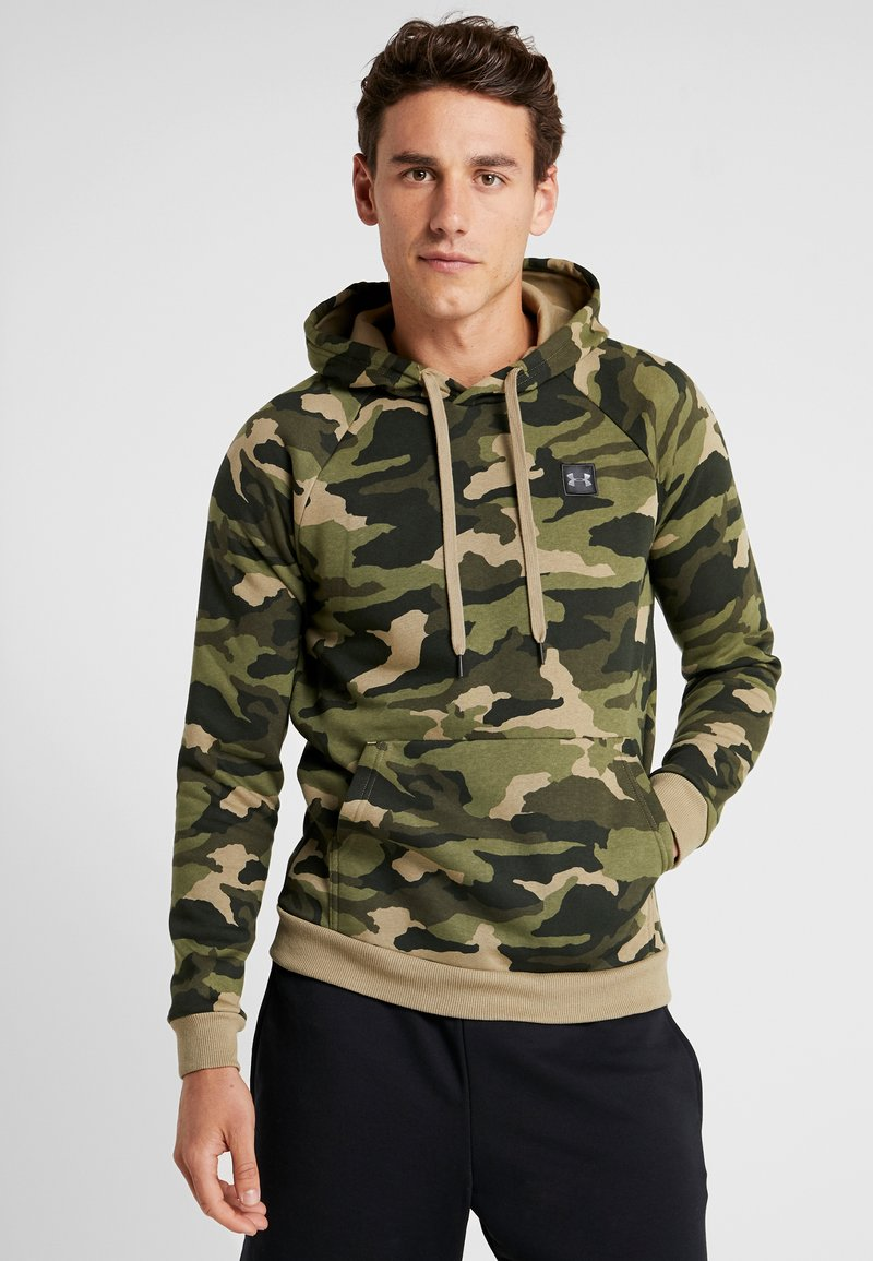 Under Armour - RIVAL CAMO HOODY - Hættetrøjer - outpost green/black