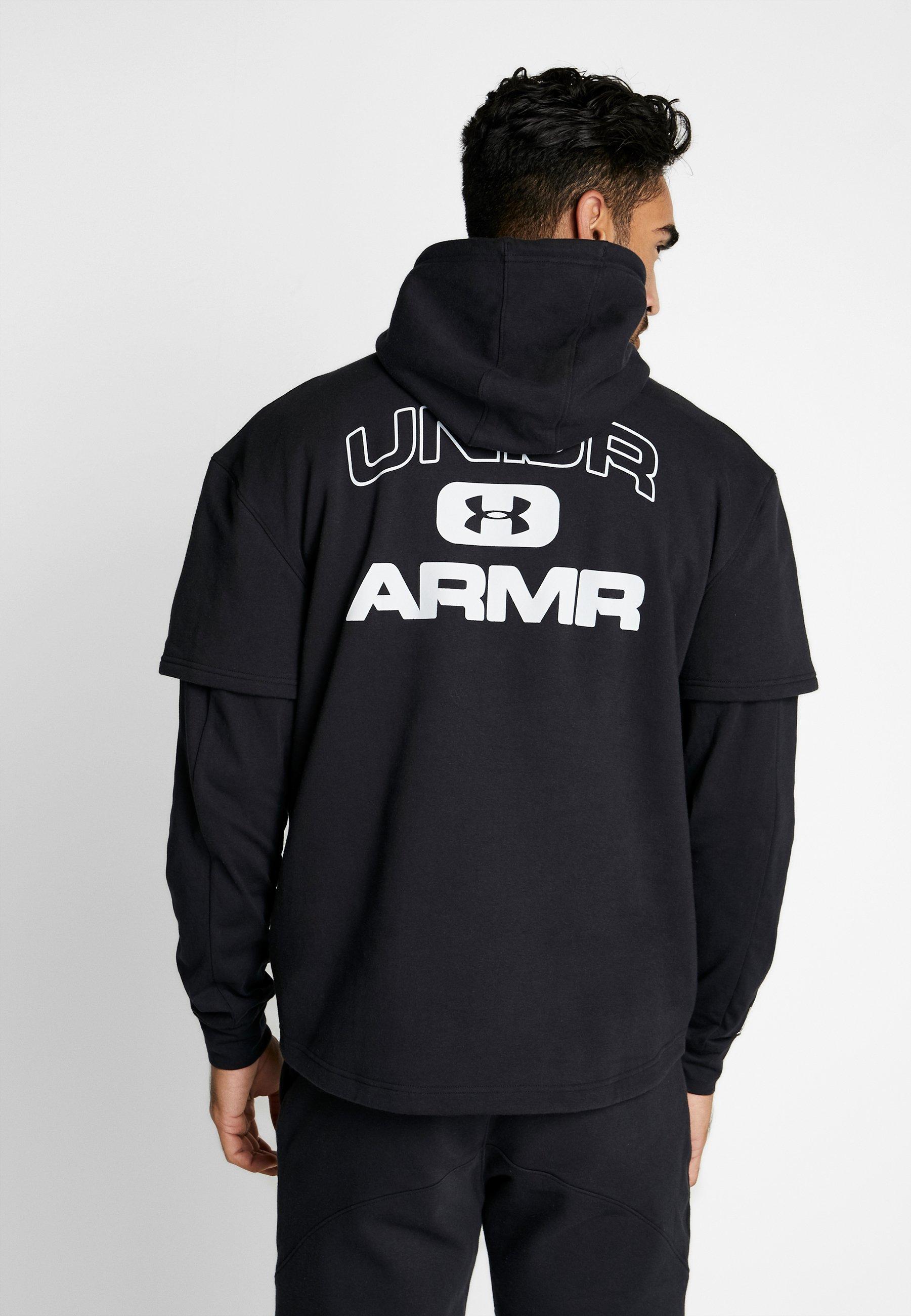 Under Armour MOMENTS HOODY - Bluza z kapturem - black/halo gray