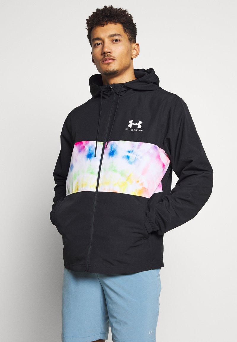 Under Armour - PRIDE SPORTSTYLE WIND HOODED JACKET - Veste coupe-vent - white/black