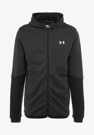 DOUBLE KNIT FZ HOODIE - Mikina na zip - black/onyx white