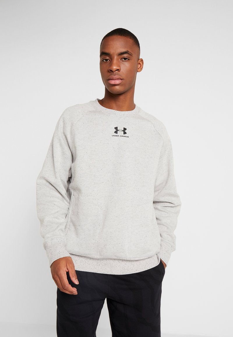 Under Armour - SPECKLED FLEECE CREW - Sweater - light grey