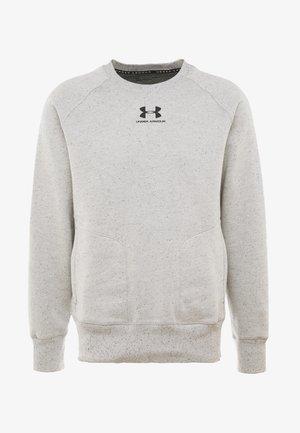 SPECKLED FLEECE CREW - Sweater - light grey