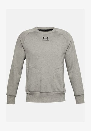 SPECKLED FLEECE CREW - Sweater - gravity green