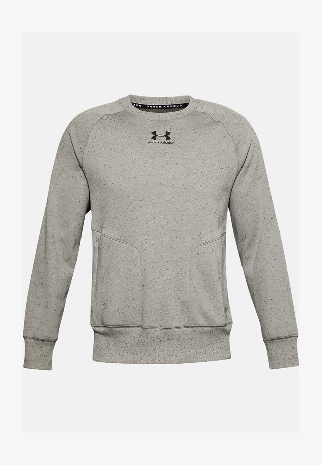 SPECKLED FLEECE CREW - Sweatshirt - gravity green