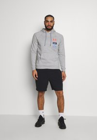 Under Armour - RIVAL ORIGINATORS HOODIE - Hoodie - steel light heather/beta - 1