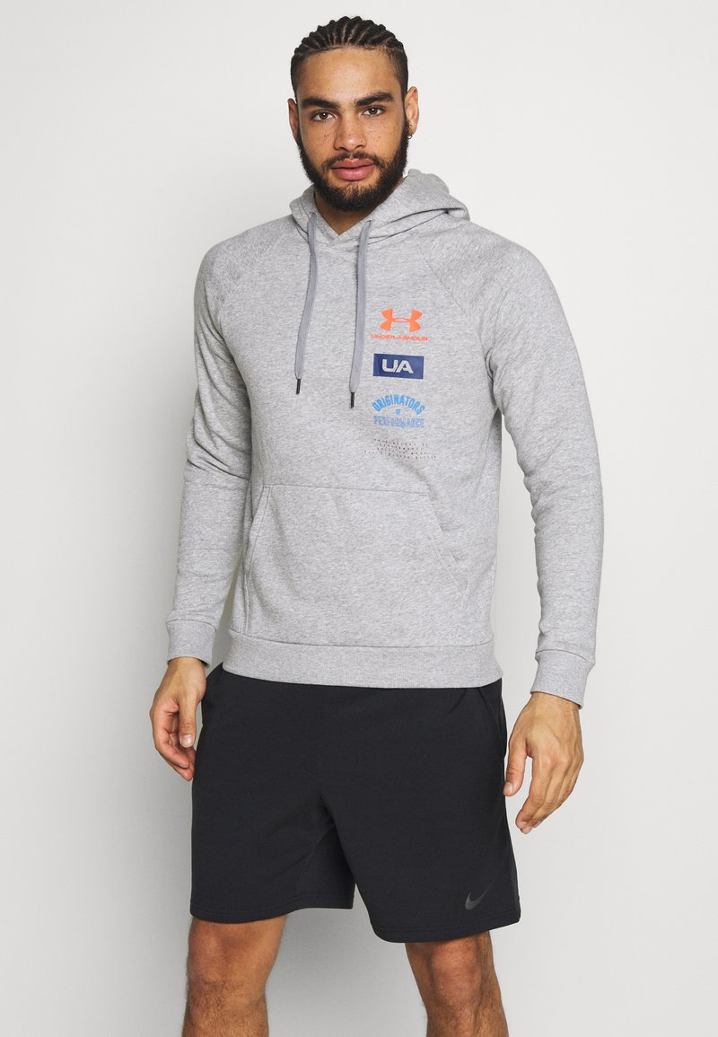 Under Armour - RIVAL ORIGINATORS HOODIE - Hoodie - steel light heather/beta