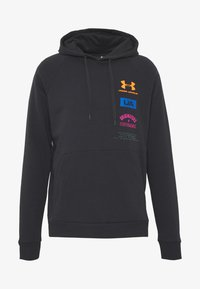Under Armour - RIVAL ORIGINATORS HOODIE - Jersey con capucha - black/orange spark - 3