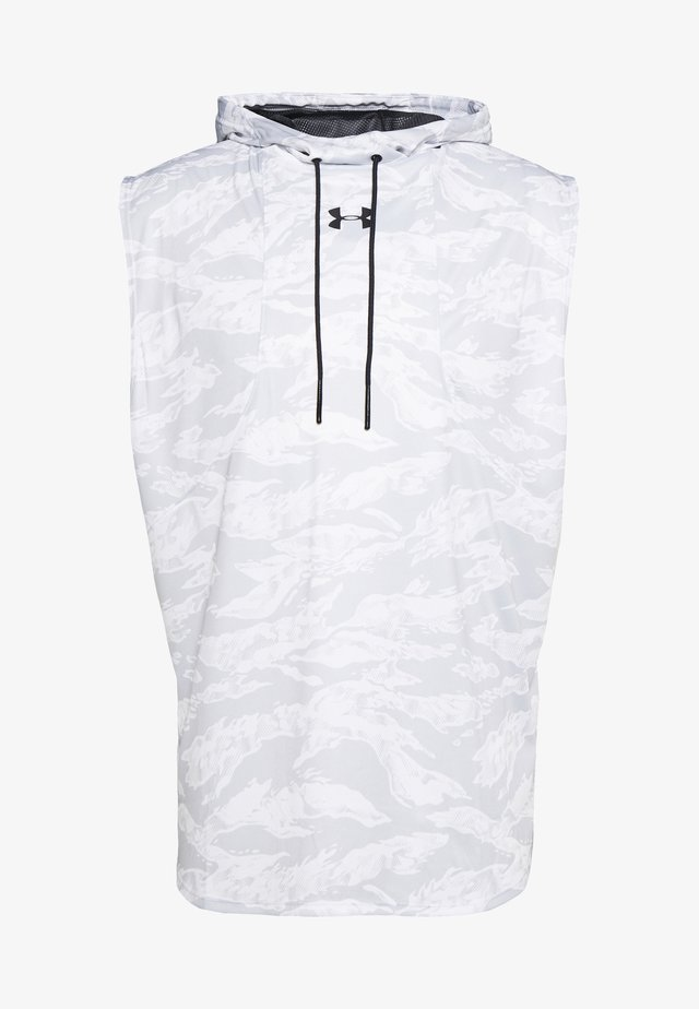 BASELINE SLEEVELESS HOODIE - T-shirt sportiva - white/black